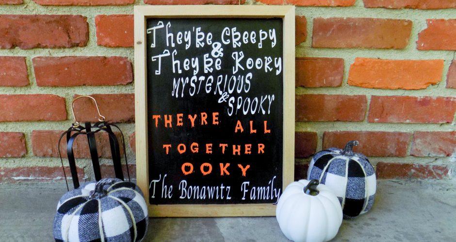 DIY Addams Family Sign for Halloween