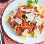 Slow Cooker Shredded Beef Ragu with Papparadelle