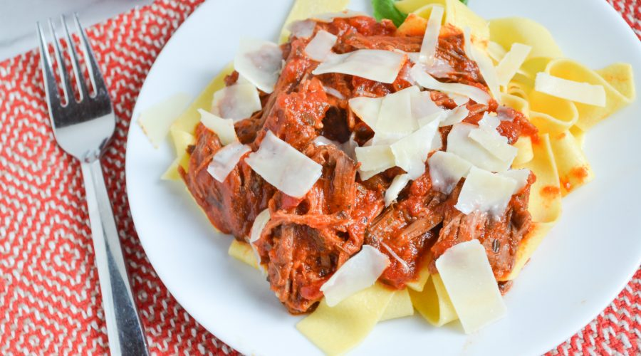 shredded beef with tomato sauce