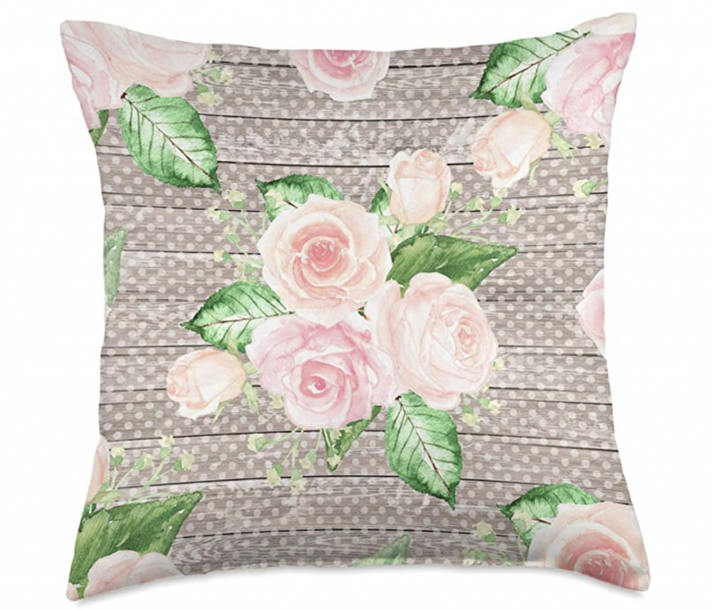 Floral shabby chic throw pillows