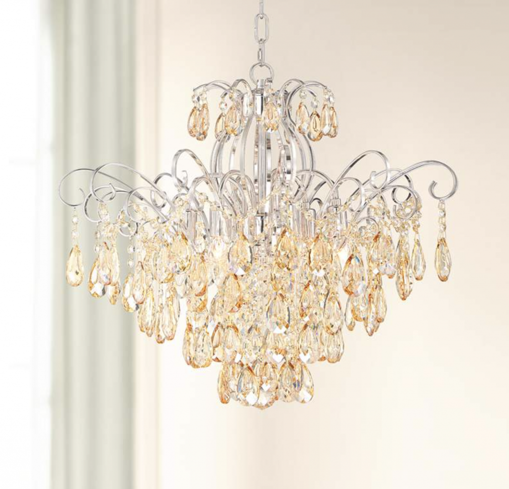 Crystal shabby chic chandelier