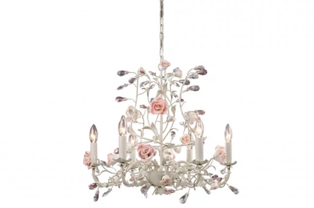 Vintage rose chandelier
