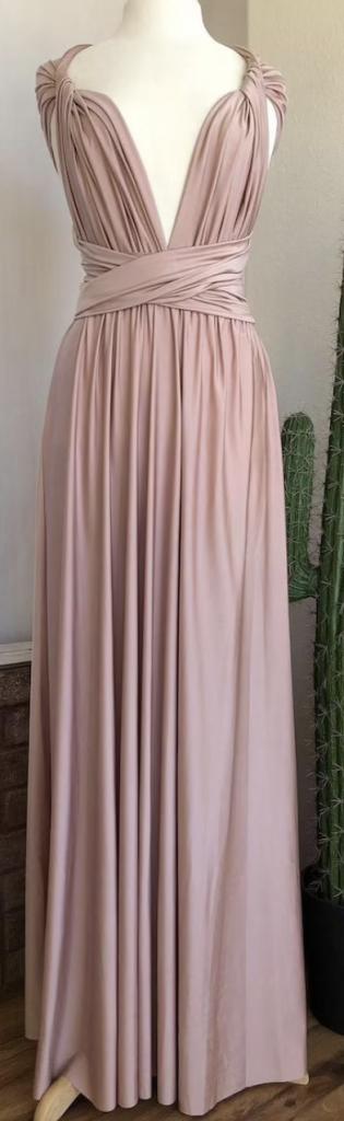 Cap sleeve boho bridesmaid dress