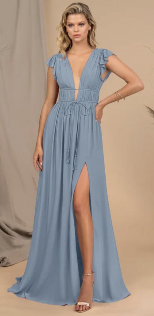 Maxi bridesmaid dress