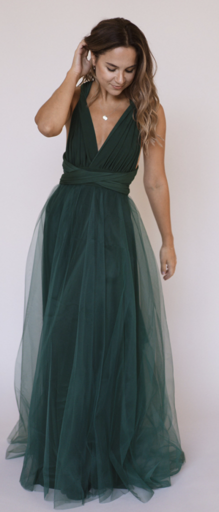 Tulle boho bridesmaid dress
