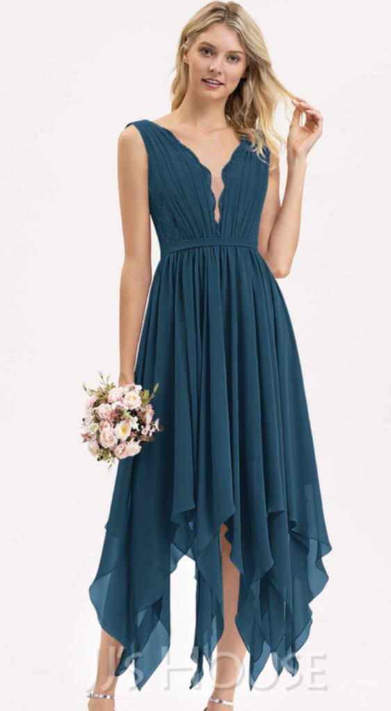 Chiffon boho bridesmaid dress