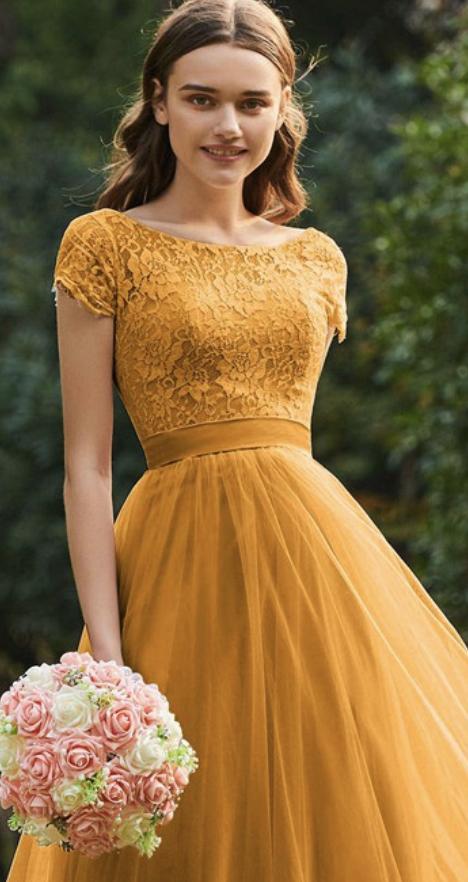 High neck bridesmaid dress