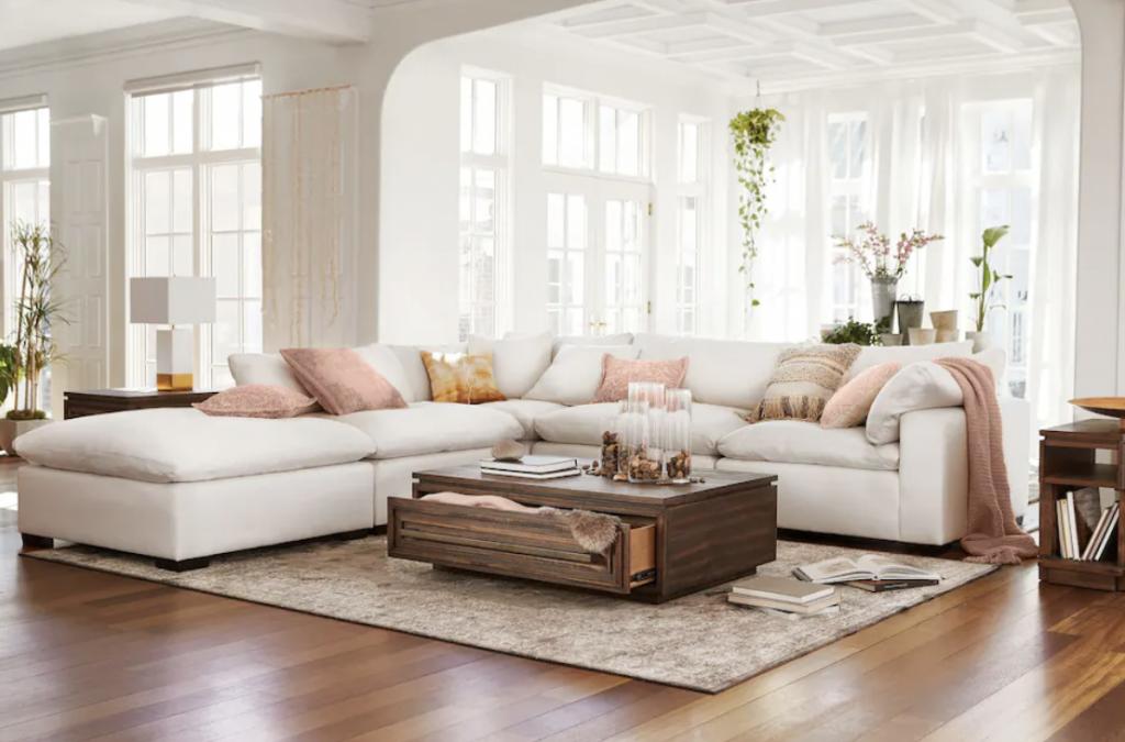Boho living room ideas sectional