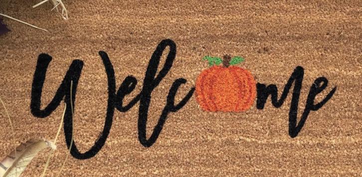Halloween welcome mat