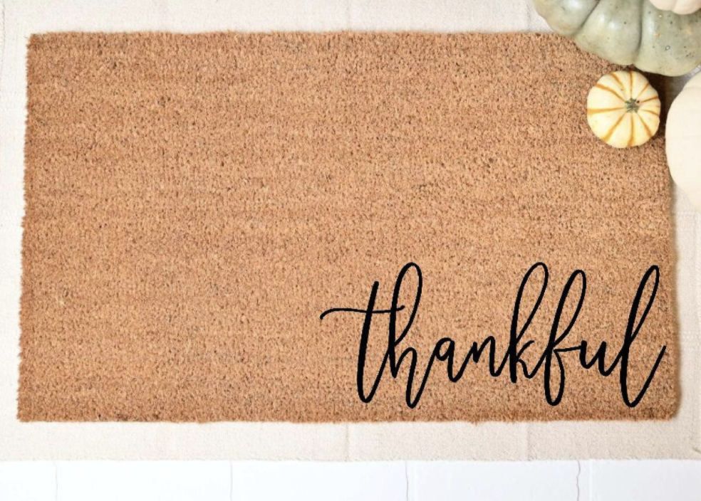 Thankful welcome mat