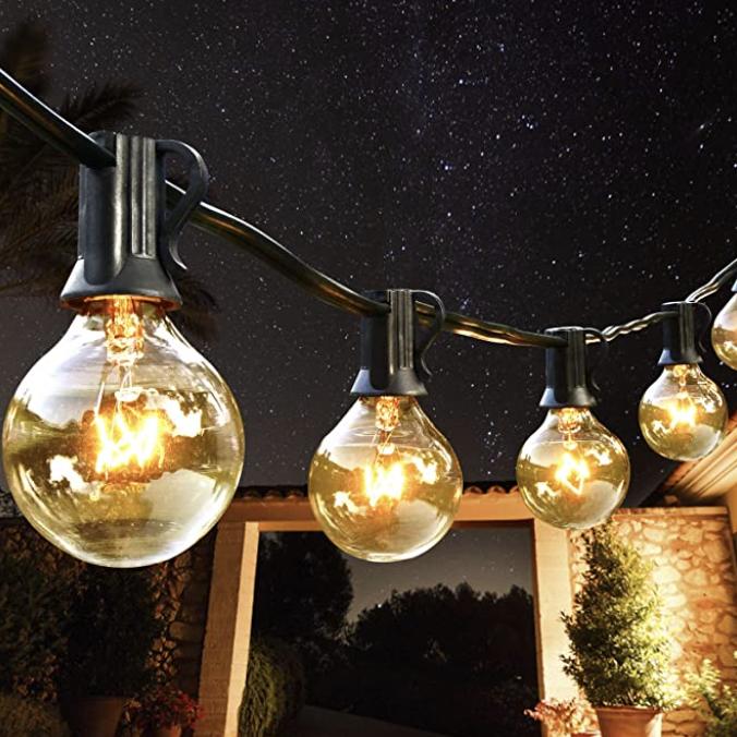 Outdoor string lighting