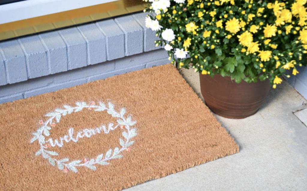 DIY Fall front door mat