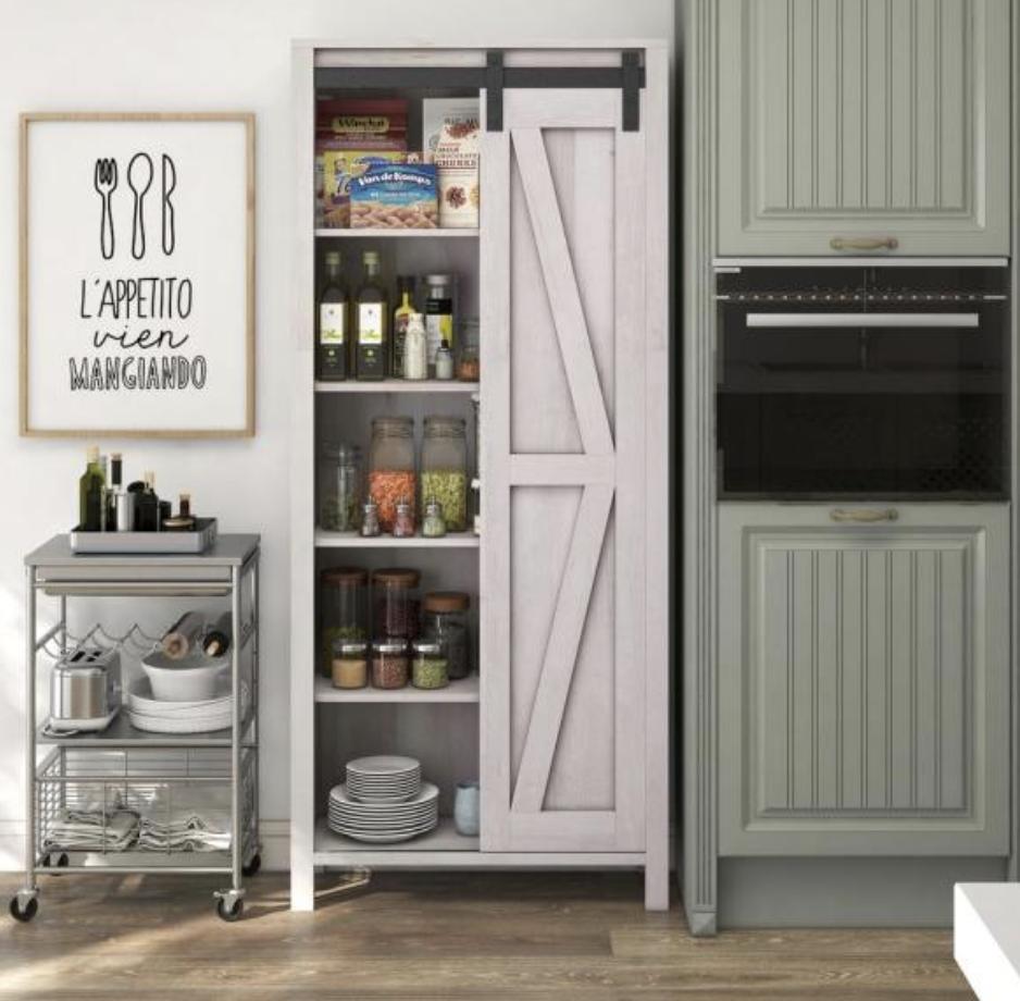 White oak pantry door