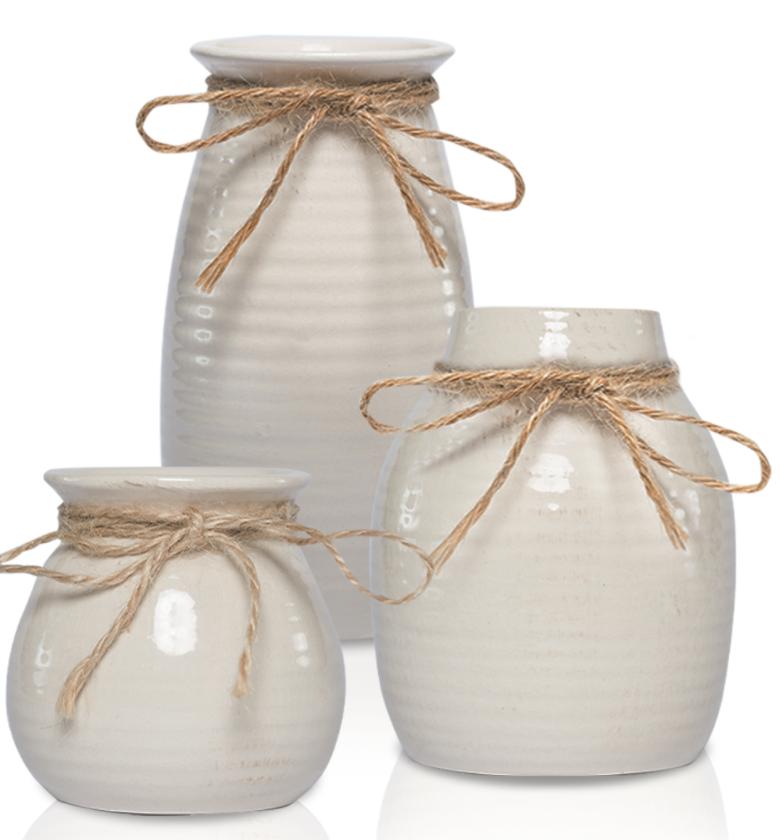 white vases decor