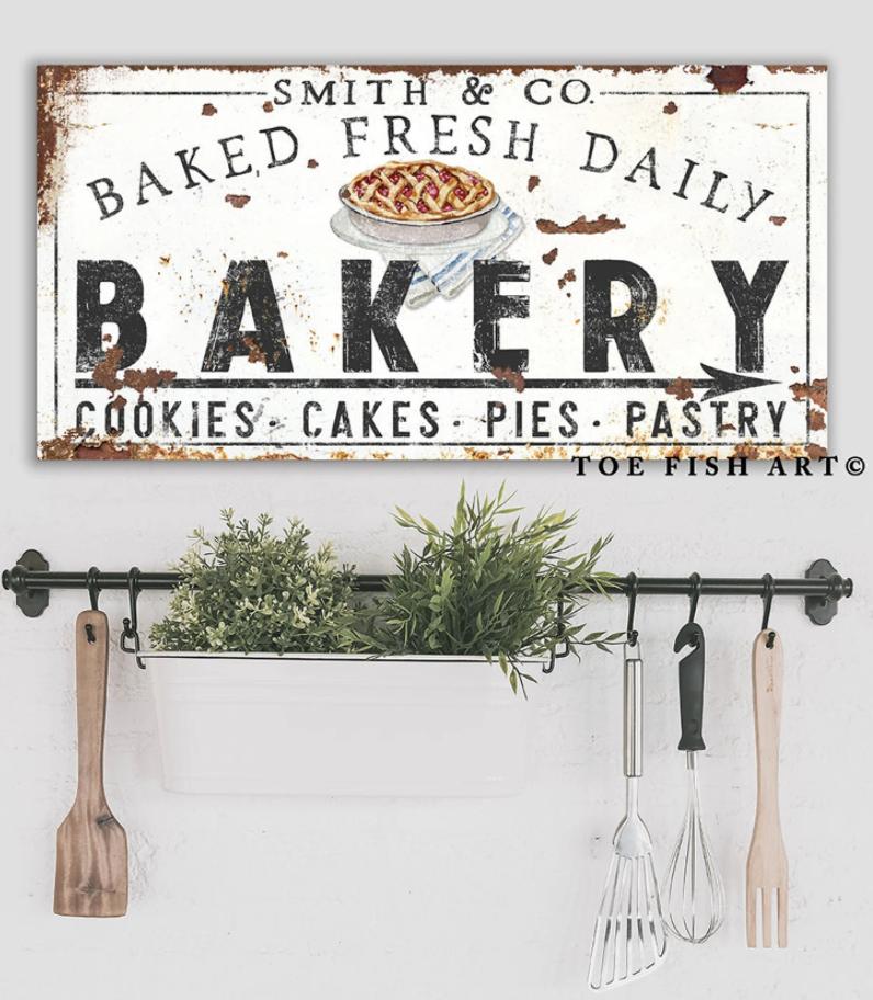 modern farmhouse bakery sign