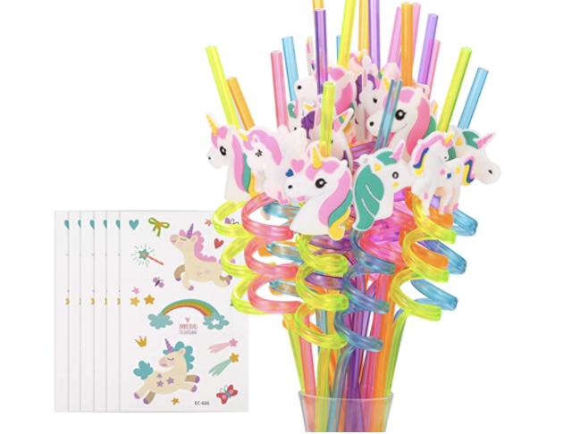 Unicorn reusable straws