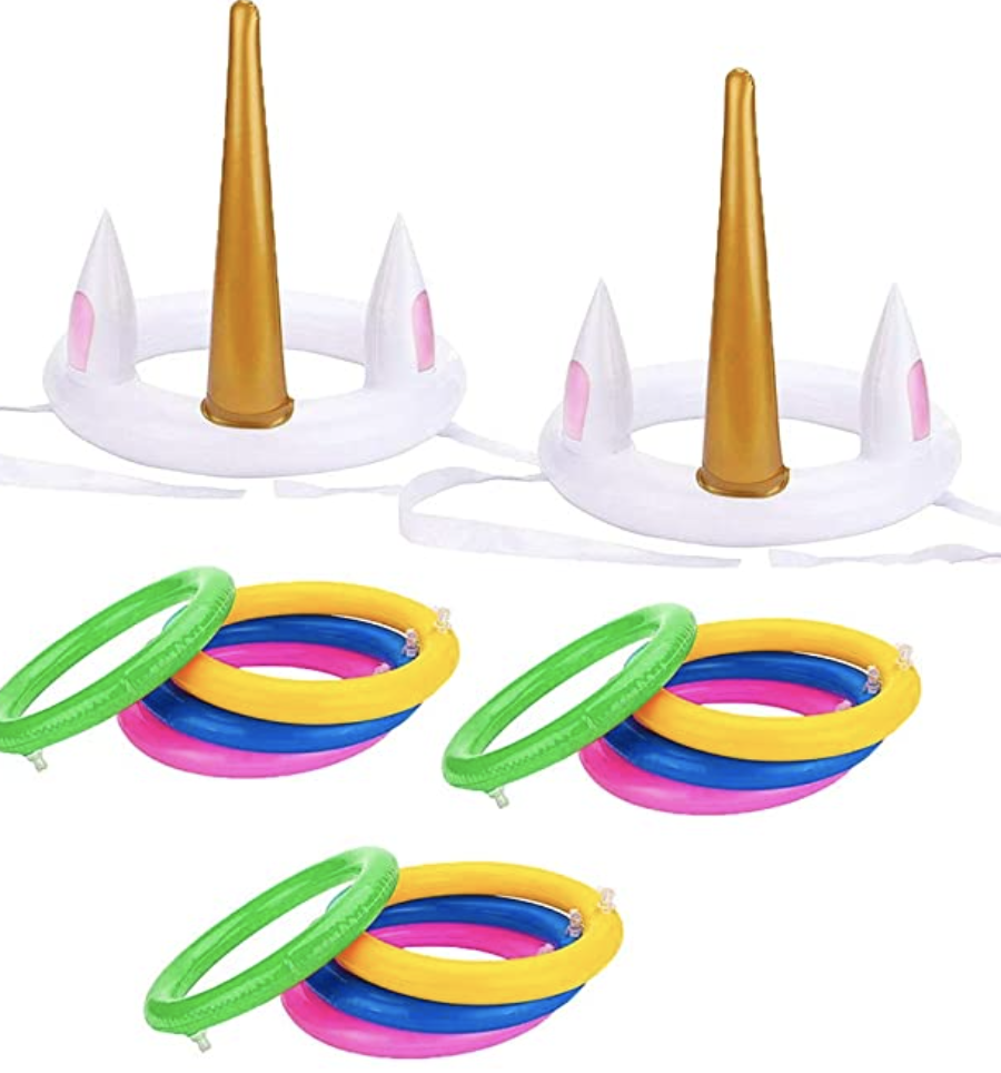 Unicorn party game inflatable toss