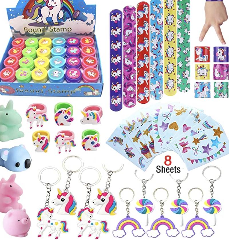 Unicorn theme party favors