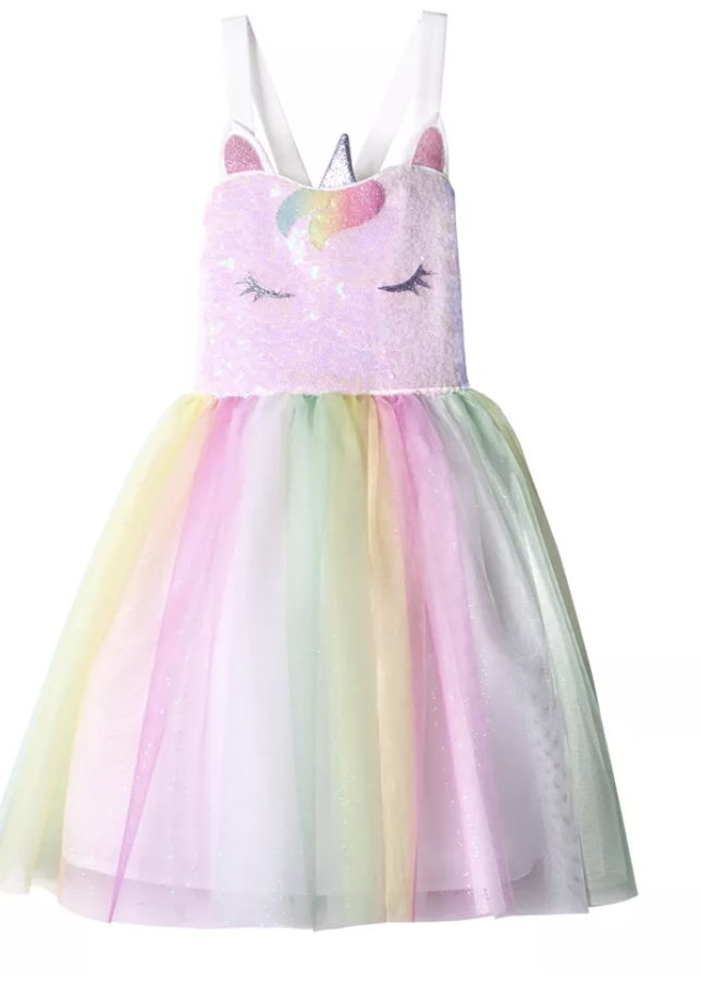 Toddler unicorn birthday dress