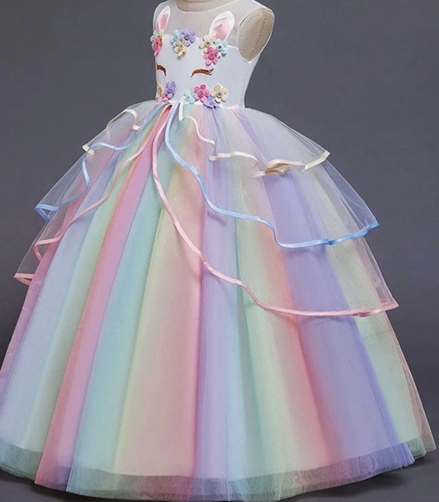 Unicorn rainbow dress