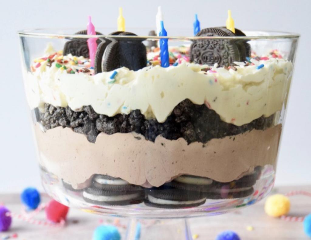 birthday oreo trifle dessert