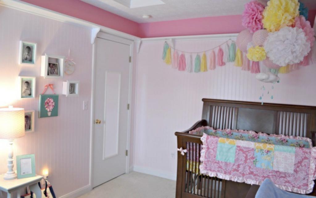 Baby girl whimsical nursery reveal