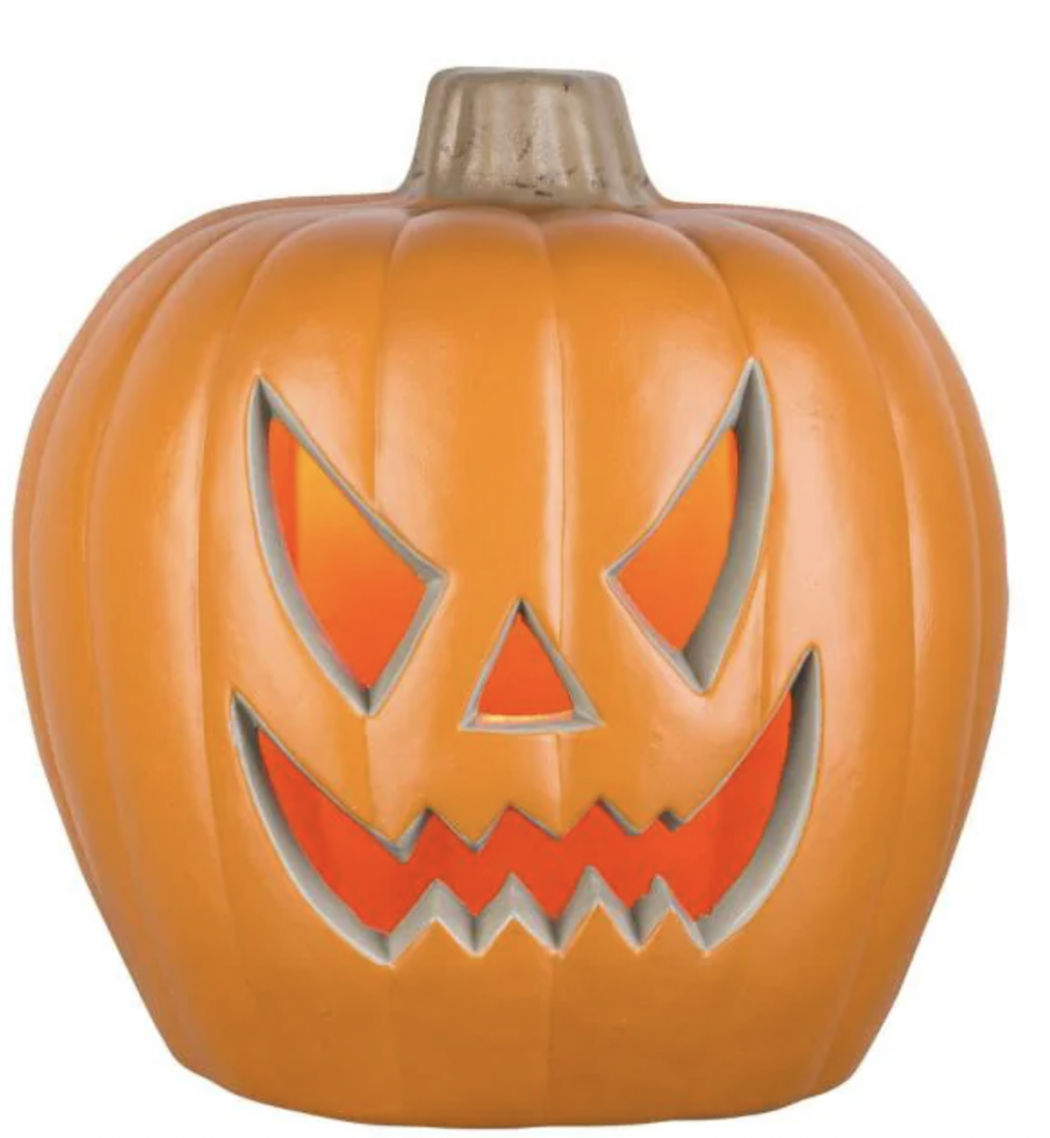 carved pumpkin decor