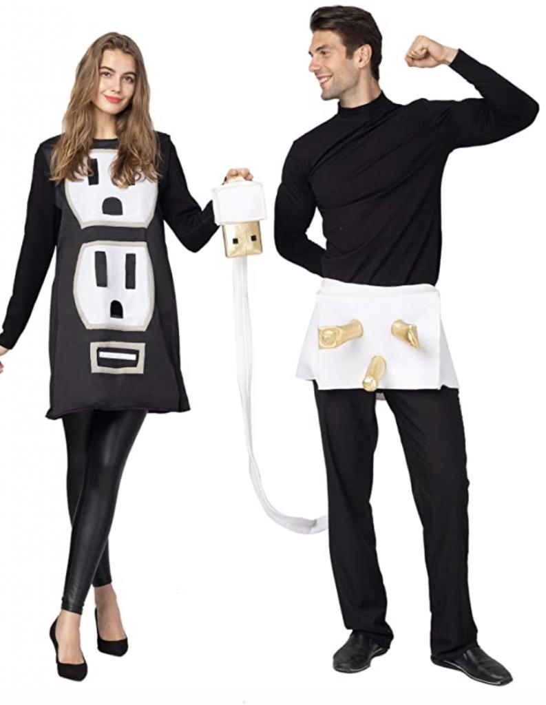 usb plug couples costume