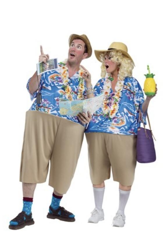 tacky tourist couples costume