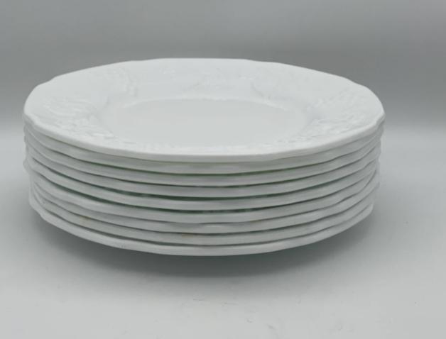 milk glass plates