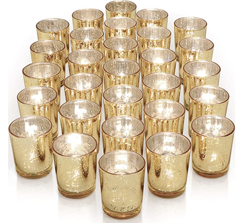 gold voltive candle holders