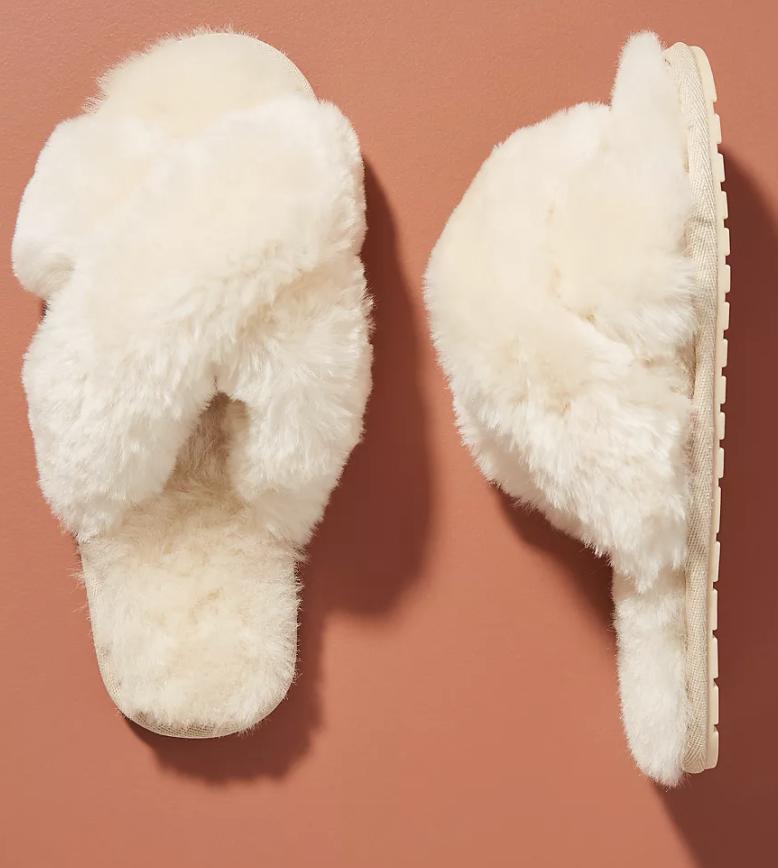 anthropologie open toe slippers