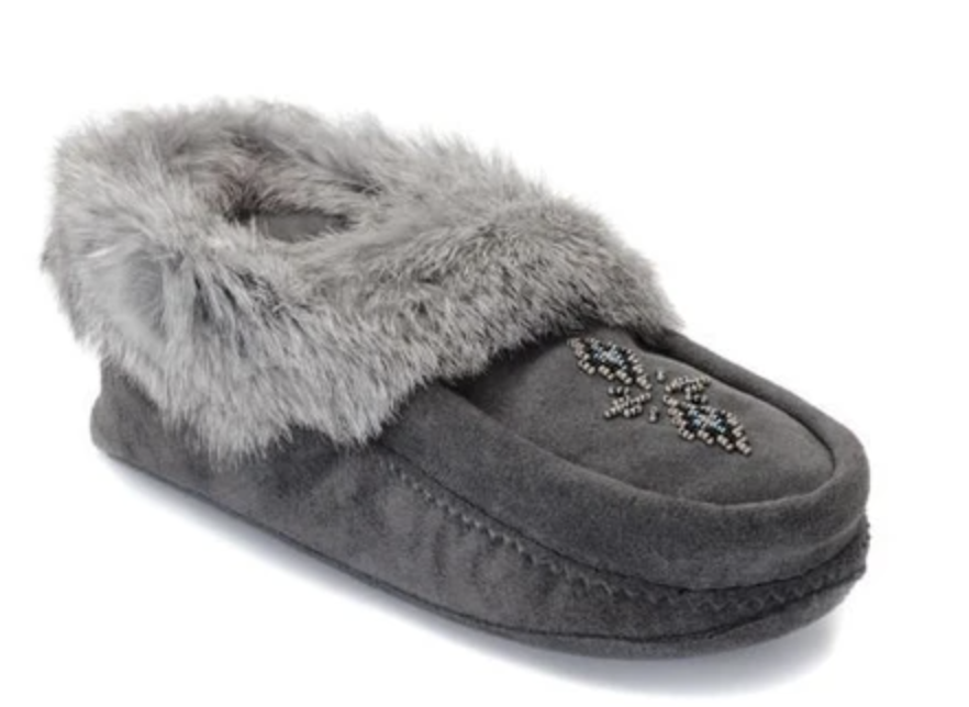 faux fur lined slippers
