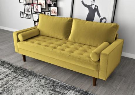 velvet boho sofa