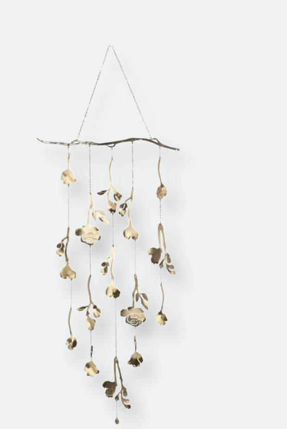 floral wall hanging romantic