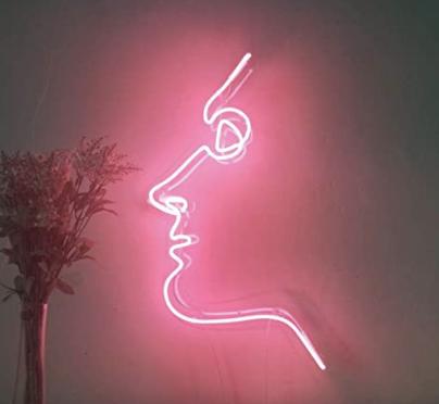 minimalist neon sign